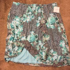 NWT SagHarbor Skirt,  Lovely Turquoise Floral